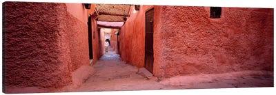 Earthen Walls Along A Lane, Medina Of Marrakech, Marrakech-Safi, Morocco Canvas Art Print