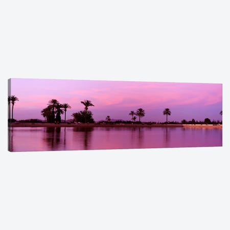 Bassin Menara, Menara Gardens, Marrakech, Morocco Canvas Print #PIM4387} by Panoramic Images Art Print