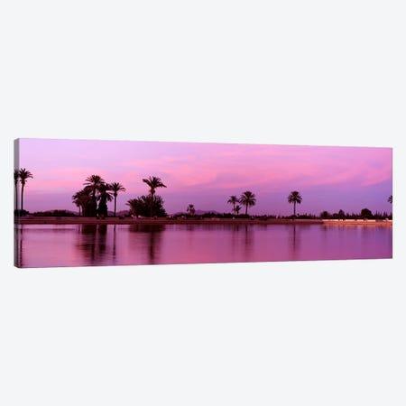 Bassin Menara, Menara Gardens, Marrakech, Morocco Canvas Print #PIM4387} by Panoramic Images Art Print