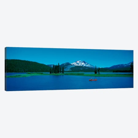 South Sister canoeing Sparks Lake OR USA Canvas Print #PIM438} by Panoramic Images Canvas Print