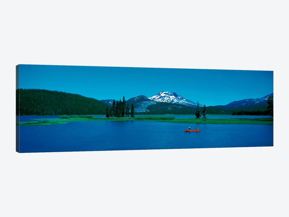 South Sister canoeing Sparks Lake OR USA 1-piece Canvas Art