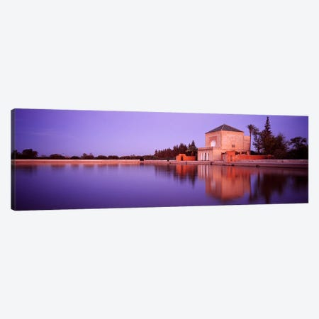 Pavillon de la Menara, Menara Gardens, Marrakech, Morocco 3-Piece Canvas #PIM4392} by Panoramic Images Canvas Art Print