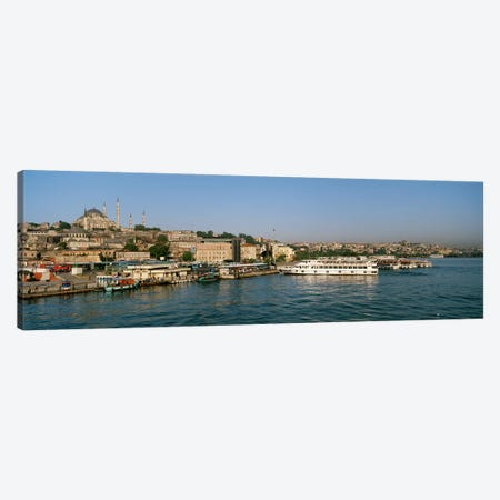 Buildings at the waterfront, Istanbul, Turkey Canvas Print #PIM4393} by Panoramic Images Canvas Art Print