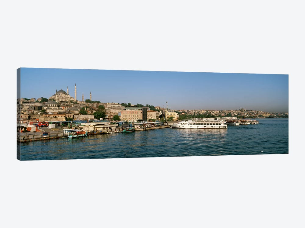 Buildings at the waterfront, Istanbul, Turkey by Panoramic Images 1-piece Canvas Wall Art