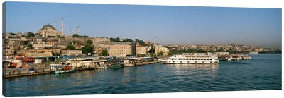 Buildings at the waterfront, Istanbul, Turkey Canvas Art Print