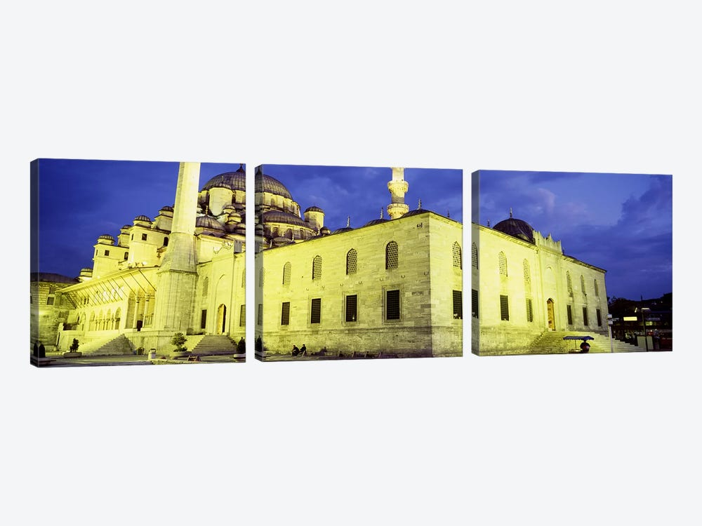 Yeni Mosque, Istanbul, Turkey by Panoramic Images 3-piece Canvas Artwork