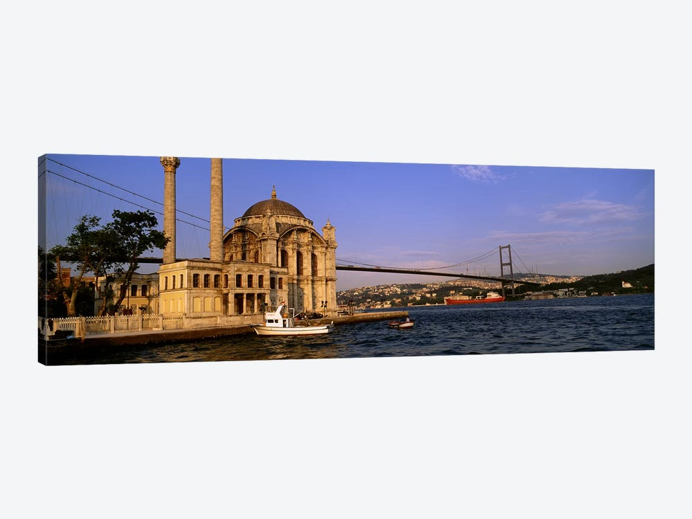 Mosque at the waterfront near a bridge, Ortakoy Mosque, Bosphorus Bridge, Istanbul, Turkey #2 by Panoramic Images 1-piece Canvas Wall Art