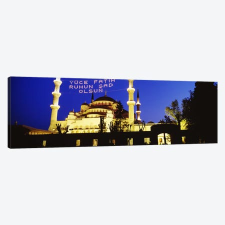 Blue Mosque, Istanbul, Turkey Canvas Print #PIM4398} by Panoramic Images Canvas Art Print
