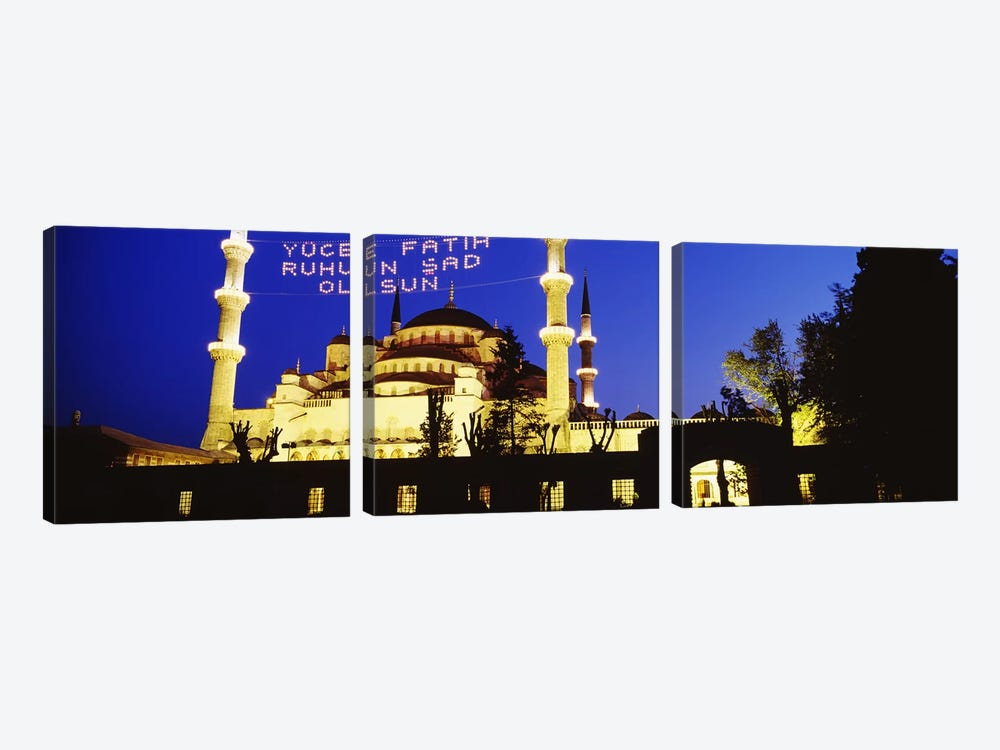 Blue Mosque, Istanbul, Turkey by Panoramic Images 3-piece Canvas Art Print
