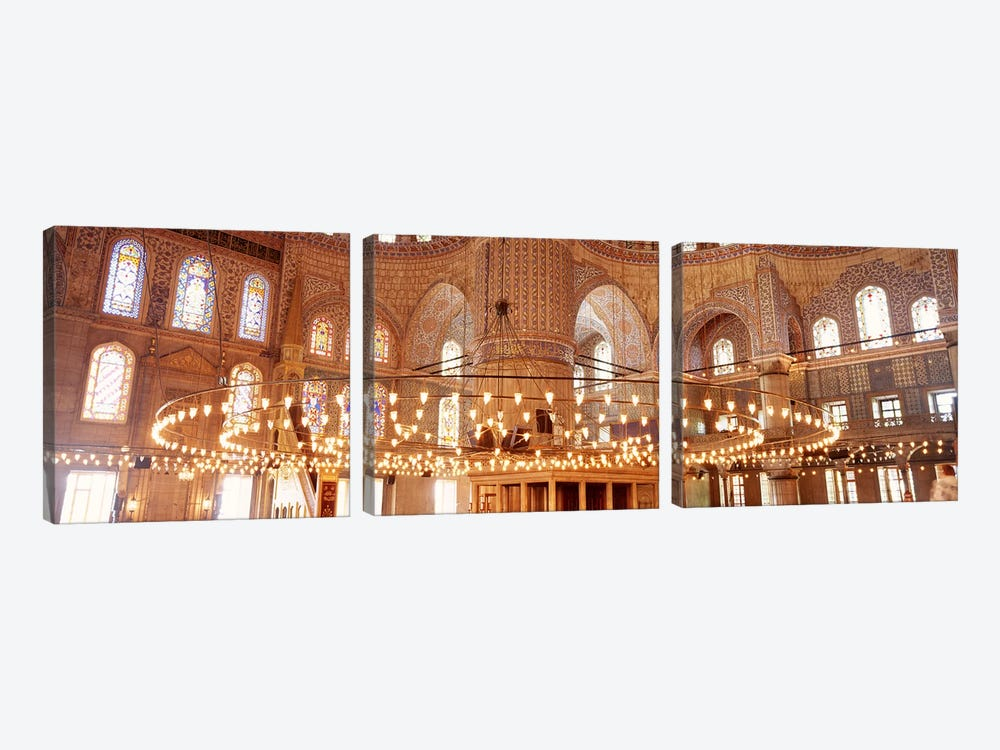 Blue Mosque, Istanbul, Turkey #2 by Panoramic Images 3-piece Canvas Print