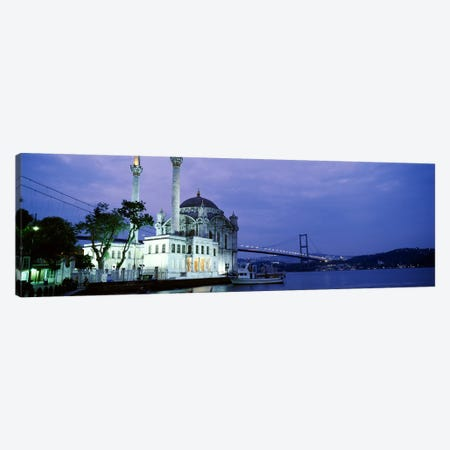 Ortakoy Mosque, Istanbul, Turkey Canvas Print #PIM4401} by Panoramic Images Canvas Art Print