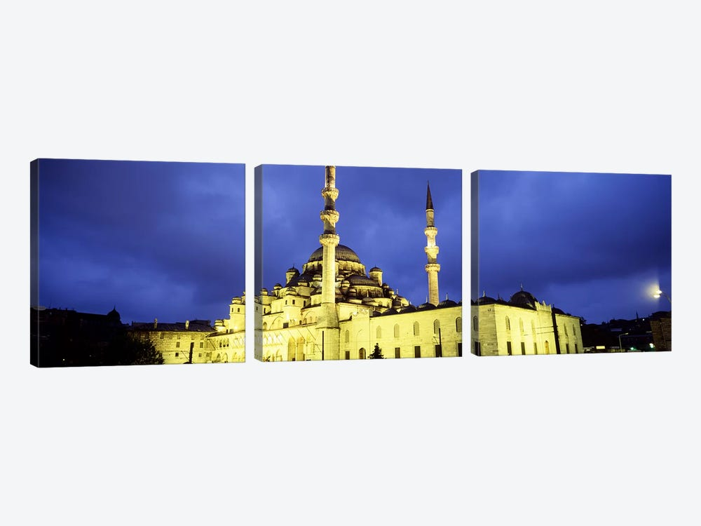 Yeni Mosque, Istanbul, Turkey #2 by Panoramic Images 3-piece Canvas Art Print