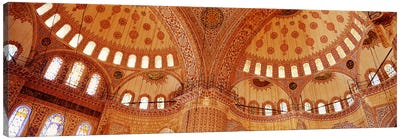 Interior, Blue Mosque, Istanbul, Turkey Canvas Art Print