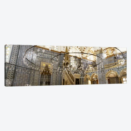 Interiors of a mosque, Rustem Pasa Mosque, Istanbul, Turkey Canvas Print #PIM4405} by Panoramic Images Canvas Artwork