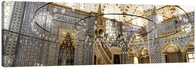 Interiors of a mosque, Rustem Pasa Mosque, Istanbul, Turkey Canvas Art Print