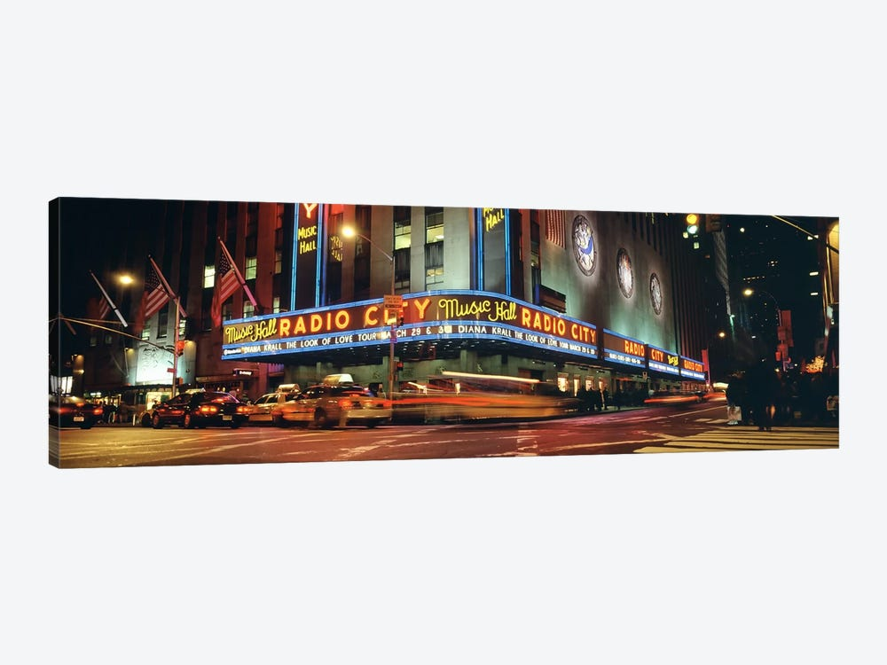Manhattan, Radio City Music Hall, NYC, New York City, New York State, USA by Panoramic Images 1-piece Canvas Art Print