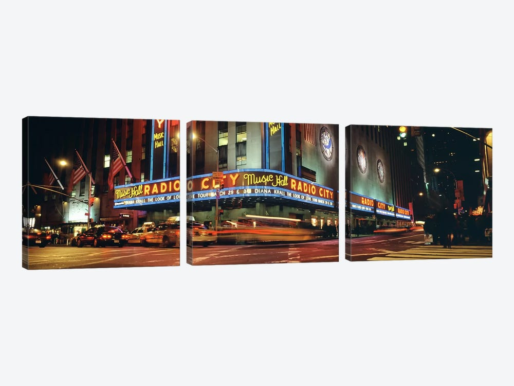 Manhattan, Radio City Music Hall, NYC, New York City, New York State, USA by Panoramic Images 3-piece Art Print