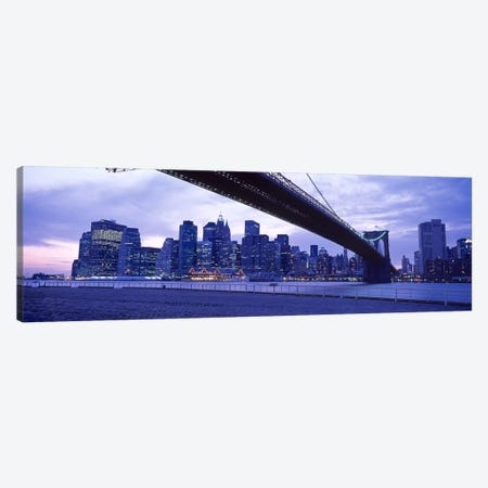 Brooklyn Bridge, NYC, New York City, New York State, USA #2 Canvas Print #PIM4407} by Panoramic Images Canvas Wall Art