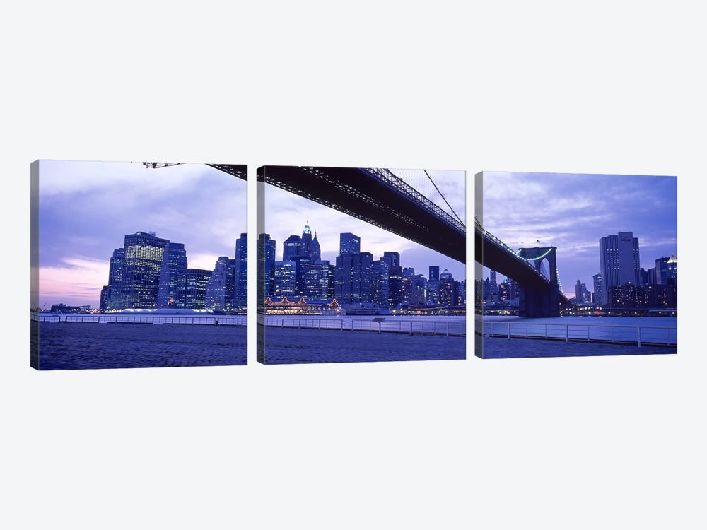 Brooklyn Bridge, NYC, New York City, New York State, USA #2 by Panoramic Images 3-piece Canvas Art