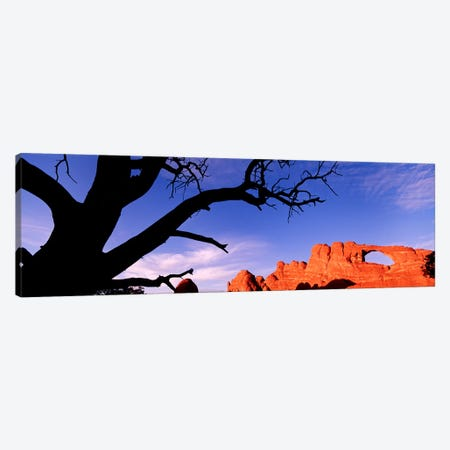 Skyline Arch At Sunset, Arches National Park, Grand County, Utah, USA 3-Piece Canvas #PIM4409} by Panoramic Images Art Print