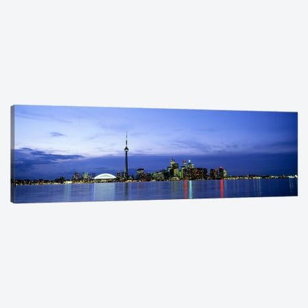 Downtown Skyline At Dusk, Toronto, Ontario, Canada Canvas Print #PIM4414} by Panoramic Images Art Print