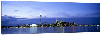 Downtown Skyline At Dusk, Toronto, Ontario, Canada Canvas Print #PIM4414