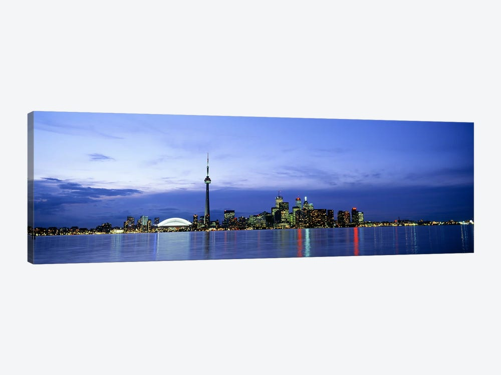 Downtown Skyline At Dusk, Toronto, Ontario, Canada by Panoramic Images 1-piece Canvas Art