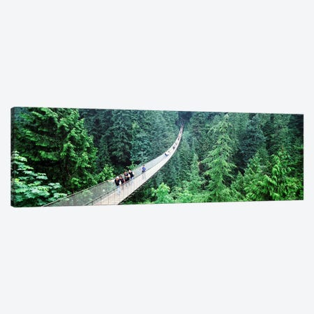Capilano Suspension Bridge, North Vancouver, British Columbia, Canada Canvas Print #PIM4415} by Panoramic Images Canvas Print