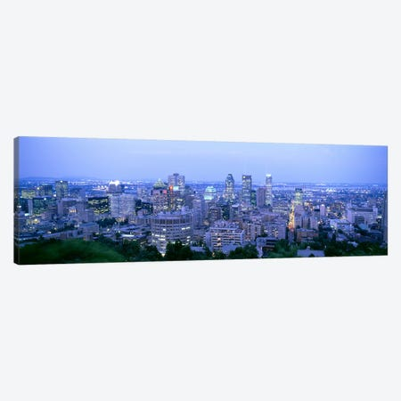 Downtown Skyline At Dusk, Montreal, Quebec, Canada Canvas Print #PIM4417} by Panoramic Images Art Print