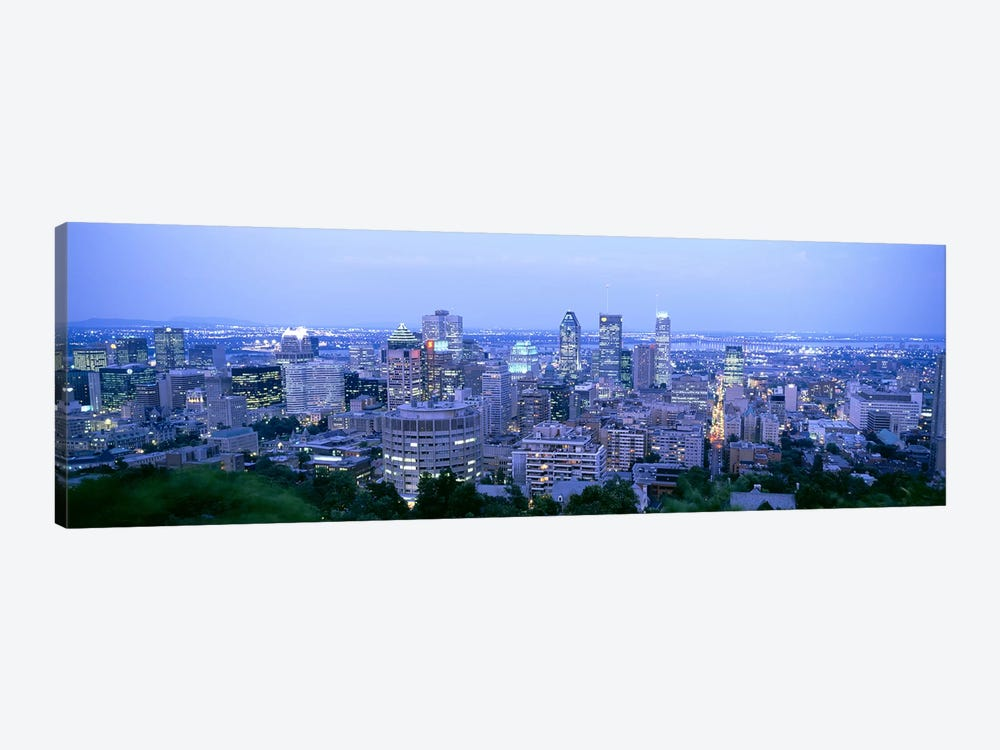 Downtown Skyline At Dusk, Montreal, Quebec, Canada by Panoramic Images 1-piece Canvas Art Print
