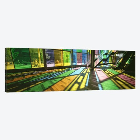 Colorful Shadows Of Kaleidoscope Wall (TransLucide), Palais des Congres de Montreal, Quebec, Canada Canvas Print #PIM4419} by Panoramic Images Canvas Wall Art
