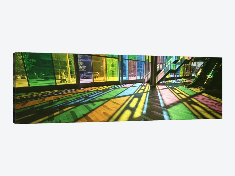 Colorful Shadows Of Kaleidoscope Wall (TransLucide), Palais des Congres de Montreal, Quebec, Canada by Panoramic Images 1-piece Canvas Art Print