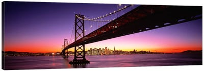 Bay Bridge San Francisco CA USA Canvas Art Print
