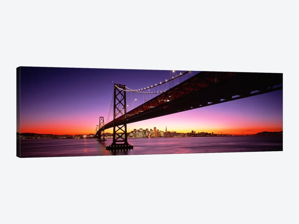 Bay Bridge San Francisco CA USA by Panoramic Images 1-piece Canvas Wall Art