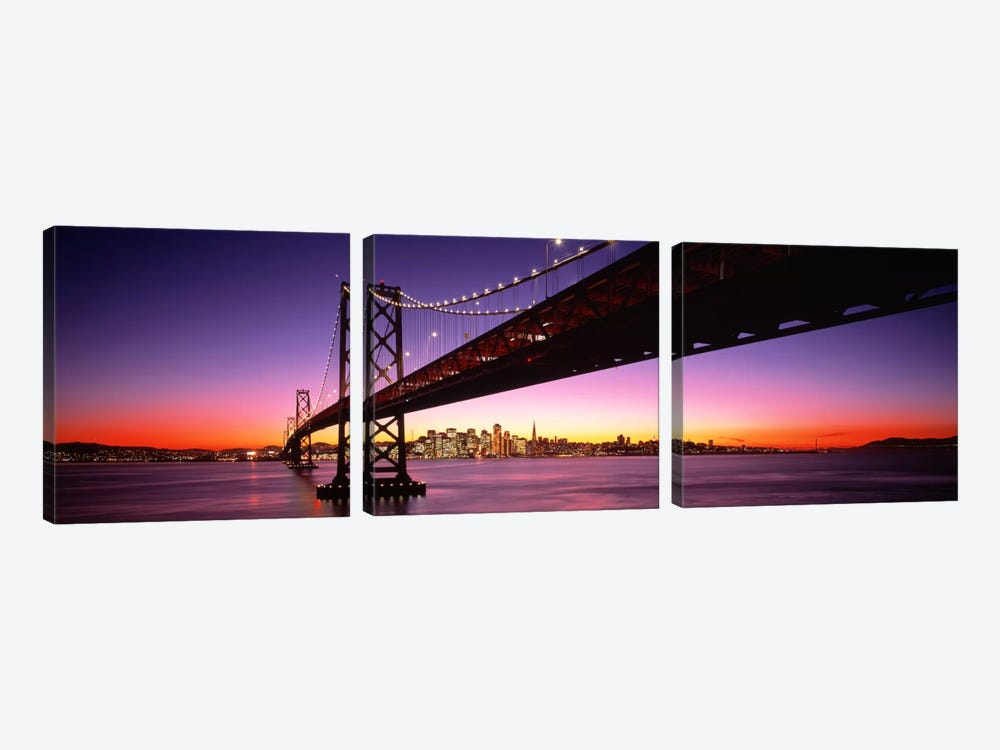 Bay Bridge San Francisco CA USA by Panoramic Images 3-piece Canvas Artwork