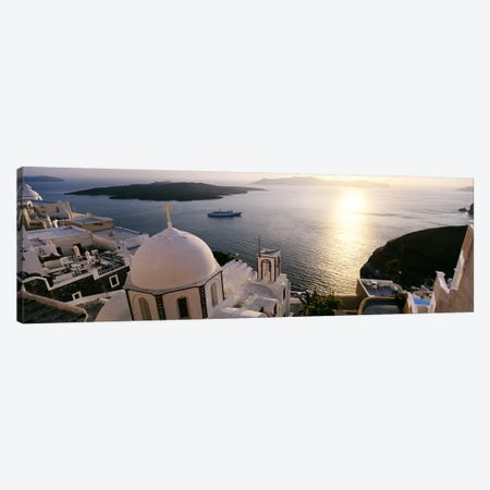 High angle view of buildings in a city, Santorini, Cyclades Islands, Greece Canvas Print #PIM4422} by Panoramic Images Canvas Print