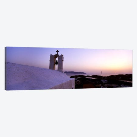 Bell tower on a building, Ios, Cyclades Islands, Greece Canvas Print #PIM4424} by Panoramic Images Canvas Art