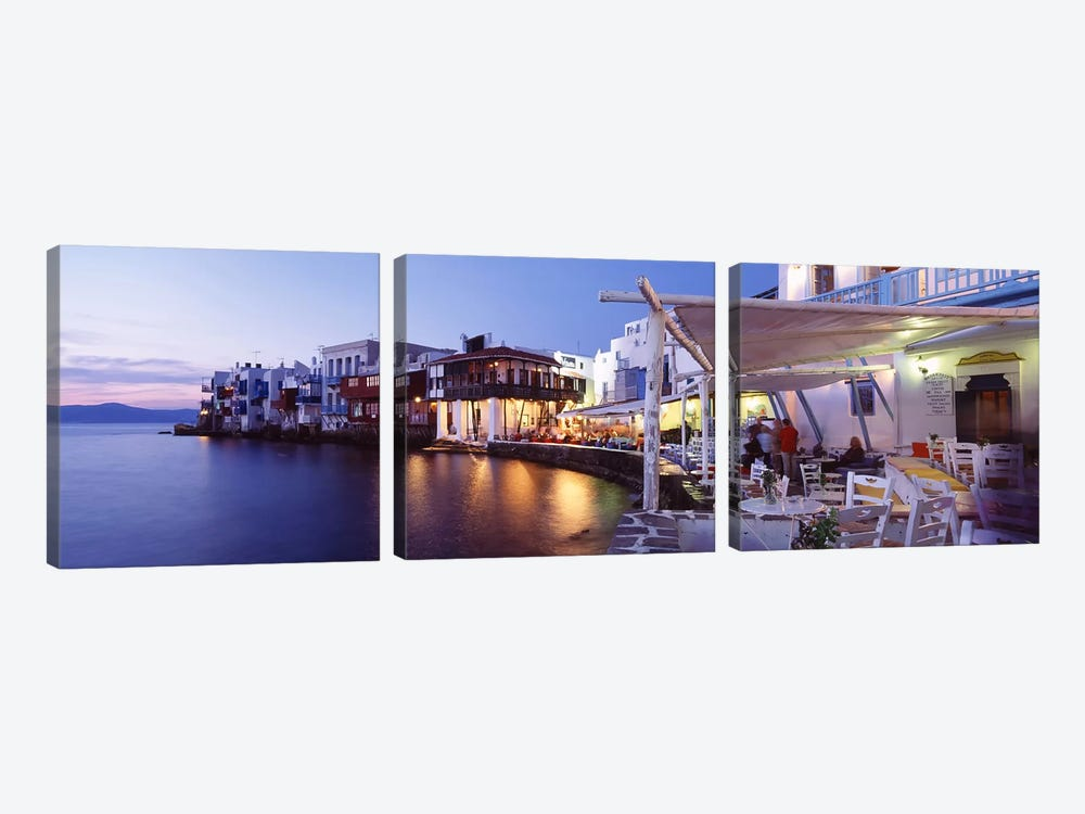 Waterfront property mykonos cyclades greece canvas art for Greece waterfront property for sale