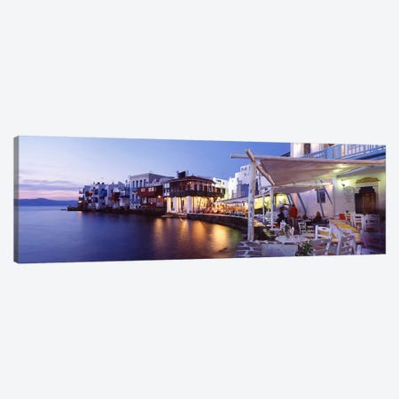 Waterfront Property, Mykonos, Cyclades, Greece 3-Piece Canvas #PIM4428} by Panoramic Images Canvas Print