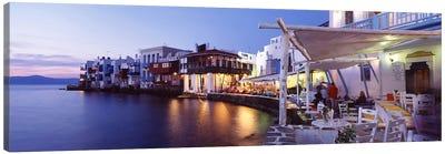 Waterfront Property, Mykonos, Cyclades, Greece Canvas Art Print