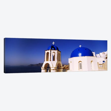 Church with sea in the background, Santorini, Cyclades Islands, Greece Canvas Print #PIM4429} by Panoramic Images Canvas Print