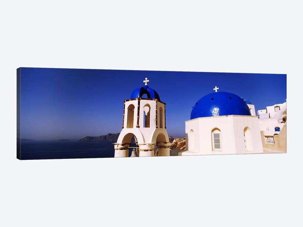 Church with sea in the background, Santorini, Cyclades Islands, Greece by Panoramic Images 1-piece Canvas Artwork