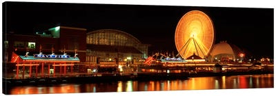 Night Navy Pier Chicago IL USA Canvas Art Print