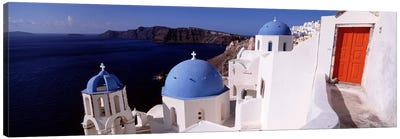 Church in a city, Santorini, Cyclades Islands, Greece Canvas Art Print