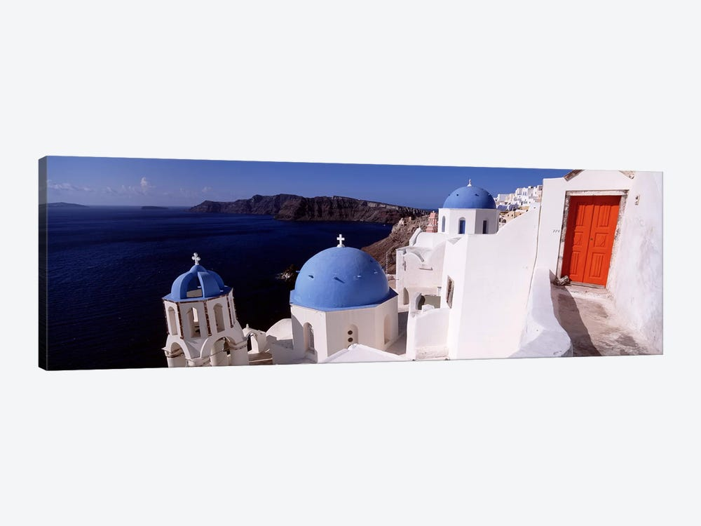 Church in a city, Santorini, Cyclades Islands, Greece by Panoramic Images 1-piece Art Print