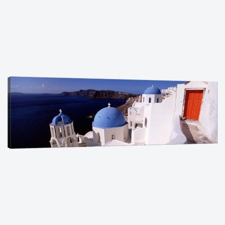 Church in a city, Santorini, Cyclades Islands, Greece Canvas Print #PIM4433} by Panoramic Images Canvas Artwork
