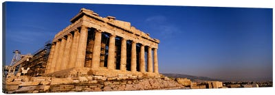Ruins of a temple, Parthenon, Athens, Greece Canvas Art Print