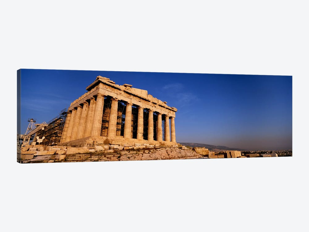 Ruins of a temple, Parthenon, Athens, Greece 1-piece Canvas Art