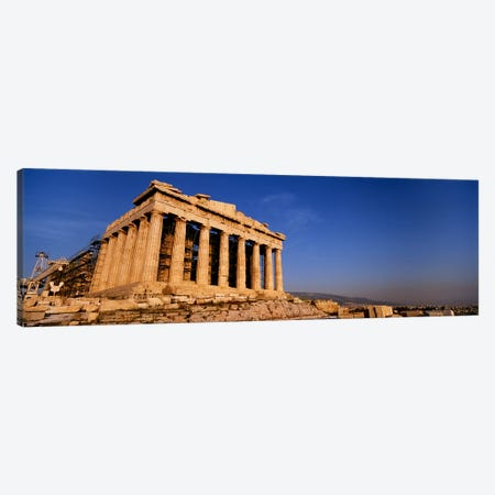 Ruins of a temple, Parthenon, Athens, Greece Canvas Print #PIM4434} by Panoramic Images Canvas Art Print