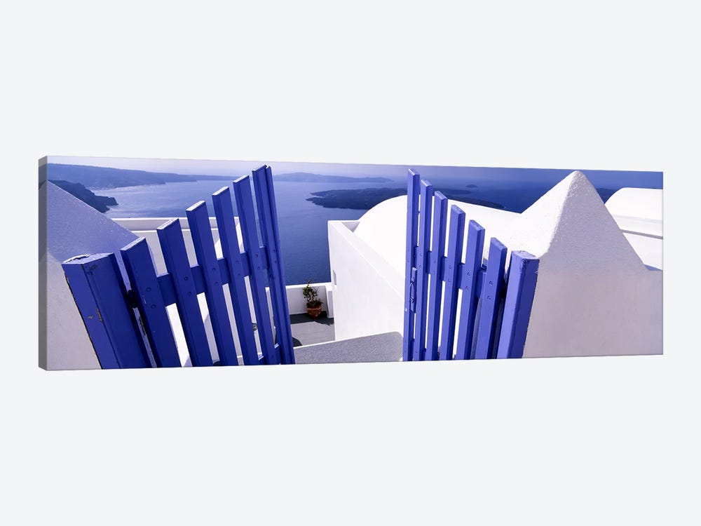 Gated Terrace View, Santorini, Cyclades, Greece by Panoramic Images 1-piece Canvas Wall Art
